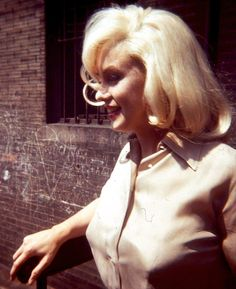 missingmarilyn:  Rare photo of Marilyn Monroe in New York completing hair and costume tests for The Misfits, 1960.
