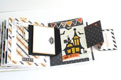 Crafty by AgnieszkaBe: Hey Little Magpie Fall Photos, Hello Autumn, Scrapbook Albums, Magpie, Hello Everyone, Mini Albums, Scary, Crafty, Creative