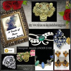 Budget friendly under $100 items http://stores.ebay.com/atouchofrosevintagejewels http://www.rubylane.com/shop/atouchofrosevintagejewels