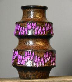 RARE Vintage 70s SCHEURICH by A.Seide 267/20 Fat Lava Vase West German Pottery | eBay