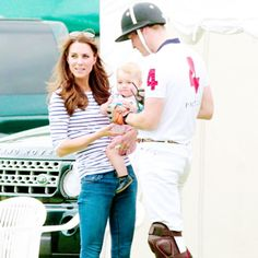 William and Kate and baby George at the Polo on Fathers Day