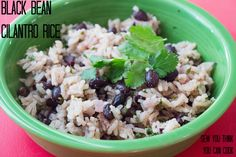 Black Bean Cilantro Rice for from Sew You Think You Can Cook Sunday Recipes, Supper Recipes, Wine Recipes, Mexican Food Recipes, Cilantro Rice, True Food, Sunday Suppers, Best Side Dishes, Homemade Soup