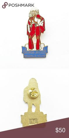 "Vintage Georgia Jaycees Enamel Pin Vintage Georgia Jaycees Nashville Sound Enamel Pin  • true vintage • 1"" x 2"" • colors: gold, white, red, orange, blue • tags: state pride, peach, south, southern belle, atlanta, georgia on my mind, Dolly Parton, bell bottoms, country, big hair, bag, hat, lapel, vest, brooch, jacket • all of the pins I sell are vintage and may contain minor nicks, imperfections, or oxidation Vintage Accessories"