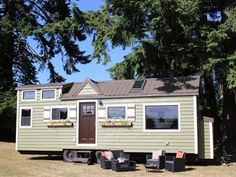 The Vintage, a tiny house on wheels by Portland-based builder, Tiny Heirloom.
