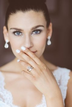 Pin for Later: 25 Beauty-Centric Photos You Need to Take on Your Wedding Day The Manicure While you are guaranteed to be in photos all night long, your nails might not make the cut. Make sure to zoom in our your elegant manicure. Baby Blue Nails, Light Blue Nails, Pink Nail, Wedding Nails For Bride, On Your Wedding Day, Wedding Stuff, Bridal Beauty, Wedding Beauty, Kate Middleton