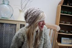 *orchids & fairylights* | tiny owl knits - Chunky knitted hat