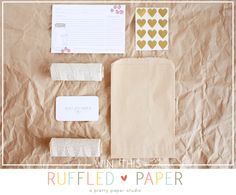 a giveaway // ruffled paper goodies