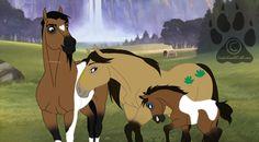 Horses from spirit Spirit The Horse, Spirit And Rain, Pretty Horses, Horse Love, Beautiful Horses, Horse Drawings, Animal Drawings, Disney Horses, Mom Drawing