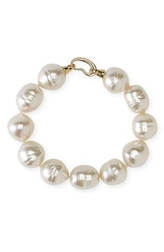 Majorica 14mm Baroque Pearl Single Row Bracelet available at #Nordstrom #Nordstromweddings