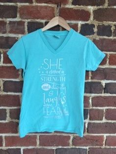 b90346a8a Hey Helen T-shirt_Mint, $28, Hey Helen Tshirt, Psalms 31:25, She is clothed  in strength and dignity and laughs without fear of the future #shopheyhelen  # ...