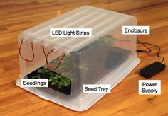 Green Thumb Grow Lights  http://www.instructables.com/id/Green-Thumb-Grow-Lights/