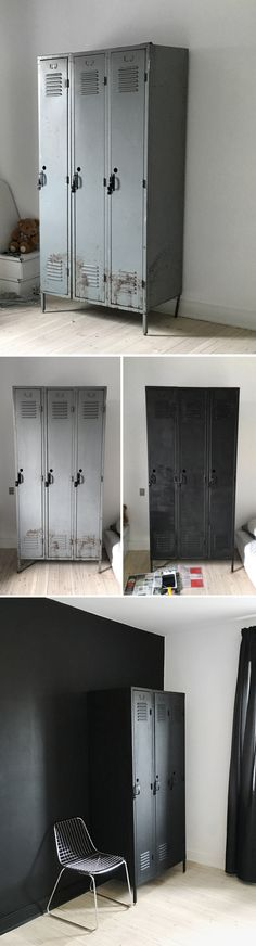 Metal locker || Before & after