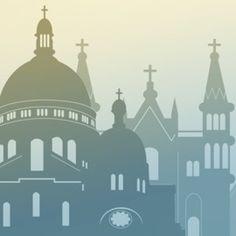 Kirchengebäude verschiedener christlicher Konfessionen