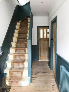 Inchyra Blue Farrow and Ball: Our unfinished hallway and need for storage – Apartment Apothecary