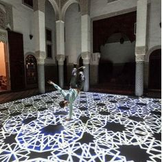 Digital Arabesques by Miguel Chevalier are beautiful projected interactive installations.