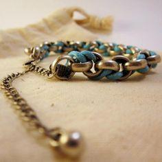 Newport blue hemp bracelet