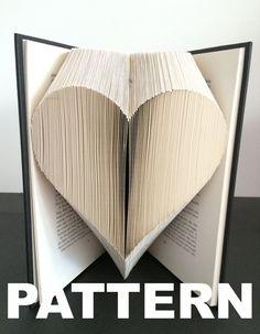 Book Folding Pattern Heart Free por BookFoldingAustralia en Etsy