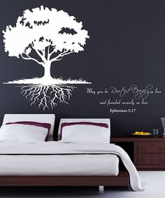 Another great find on Ephesians Roots Wall Decal by DecorDesigns Bedroom Crafts, Bedroom Decor, Master Bedroom, Tumblr Rooms, My Dream Home, Wall Decals, Wall Art, Ephesians 3, Beautiful Homes