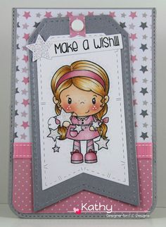 I have another card for  CC Designs to share with you today.   This is a Little Pixie stamp called Star. She's very sweet isn't she?!  This...