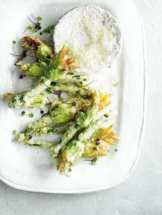 Ricotta-Stuffed Zucchini Blossoms | Pinterest: Natalia Escaño