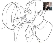 Wire Sculpture Portrait of couple , perfect as artistic decoration for a Wedding…