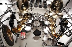 Mike Mangini became an official member of Dream Theater in 2010, and of course, he had to extend his drum kit. Description from dailydrummer.com. I searched for this on bing.com/images