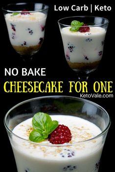 No Bake Keto Cheesecake For One Low Carb Easy Recipe via @ketovale