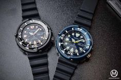 Seiko Prospex Automatic Diver 200m 'Baby Tuna' 4R36 (Black ref. SRP655K1 & Blue ref. SRP653K1) - Review with Live photos & Price - Monochrome-Watches