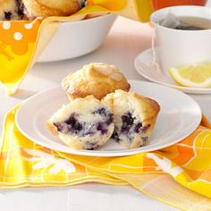 Sour Cream Blueberry Muffins Recipe from Taste of Home -- shared by Tory Ross of Cincinnati, Ohio