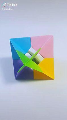 Origami Toys, Instruções Origami, Origami Videos, Origami And Kirigami, Paper Crafts Origami, Origami With Printer Paper, Sticky Note Origami, Origami Animals, Oragami