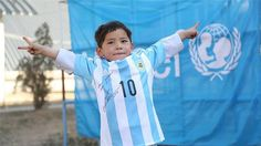 'I love Messi and my shirt says Messi loves me', Murtaza told UNICEF | Voice Of People