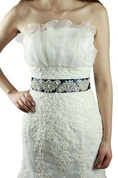 Lemandy 230*5CM ceinture de mariage soirée cristaux perle…