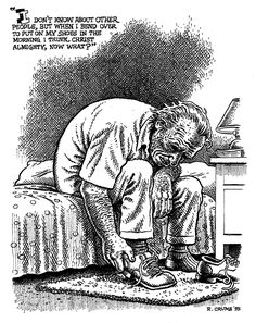 R. Crumb illustration of Charles Bukowski