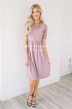 Beautiful Soft Lilac Dress, Modest Bridesmaids Dress, dress with sleeves, Church Dresses, dresses for church, modest bridesmaids dresses, modest office clothing, affordable boutique dresses, cute modest dresses, cute modest clothes, summer dress