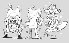 Finn, Fern and Ice Prince