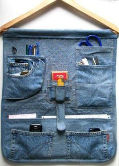 cute idea for old jeans pockets