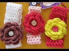 how to crochet a hairband or headband (all sizes) - YouTube