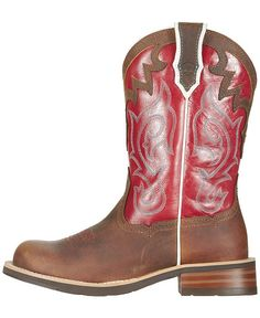 Ariat Unbridled Red Cowgirl Boots - Round Toe - Sheplers | My