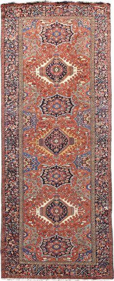 "Persian Karaja rug, 4' 9"" x 12' 4"", J.H. Minassian gallery"
