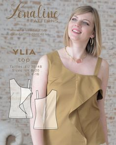 Sewing pattern #top #couture Couture, Sewing Patterns, Tights, Summer, Instagram, Tops, Women, Fashion, Boss