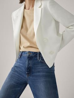 Up to -70% - SALE - WOMEN - Massimo Dutti - United States Cropped Blazer, Blazers For Women, Women's Blazers, Blazer Buttons, Timeless Fashion, Women's Fashion, New Outfits, Latest Fashion Trends, Clothes For Women