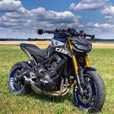 Mt 09 Yamaha, Yamaha Bikes, Cycling Bikes, Yamaha Sport, Moto Bike, Motorcycle Bike, Custom Motorcycles, Custom Bikes, Ducati
