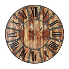 kitchen wall clock option (slightly small, but ideal colors & textures)