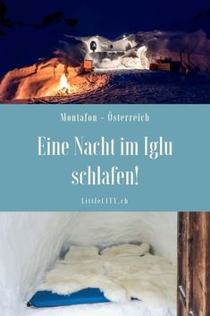 We slept one night in an igloo! All the unique igloo experience in Silvretta Montafon in Austria. Reisen In Europa, Europe Travel Guide, First Night, Switzerland, Sleep, Austria, Travel Ideas, Travel Inspiration, Explore