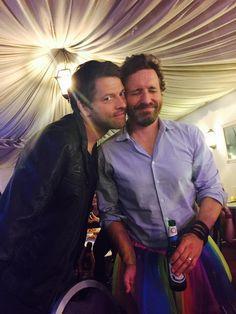 Misha Collins & Rob Benedict #Jibcon6 Supernatural