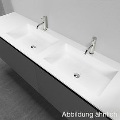 antoniolupi EXELEN / PIANA Top w. 2 integrated CONCA basins white