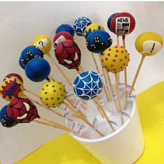 cakepops  spiderman party