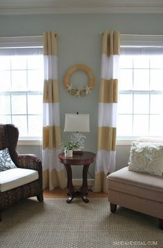 DIY Painted Curtains - Sand & Sisal