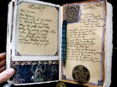Pages from an altered art Book of Shadows... lovely. Definitely visit the website to see her other pics!