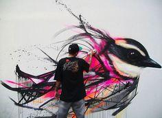 Ptasie graffiti na ulicach Sao Paolo | Luis Seven Martins - CzytajNiePytaj - Magazyn Online. Sztuka, Moda, Design, Kultura